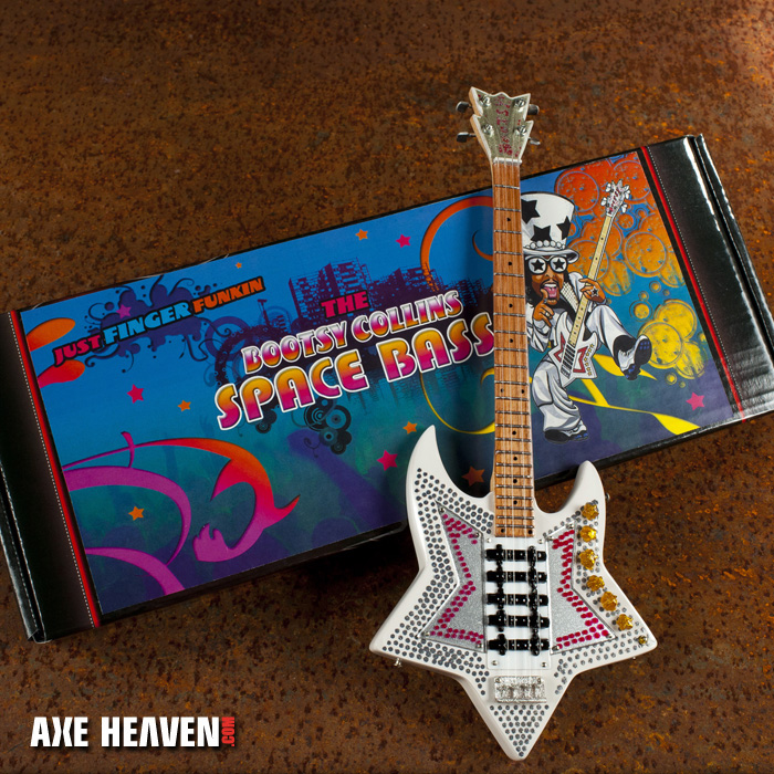 """Bootsy Collins """"Space Bass"""" Mini Guitar by AXE HEAVEN® - A Great Gift for Any Fan of Funk!"""