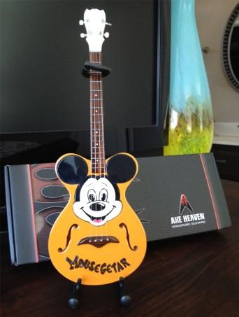 "AXE HEAVEN® Miniature Replica of the Original Mickey Mouse Club ""Mousegetar"""