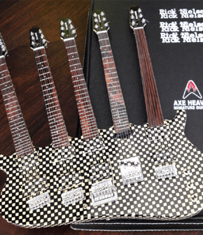 Rick Nielsen Five-Neck Checkered Miniature Guitar