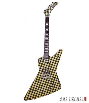 Rick Nielsen Checkered Explorer Mini Guitar