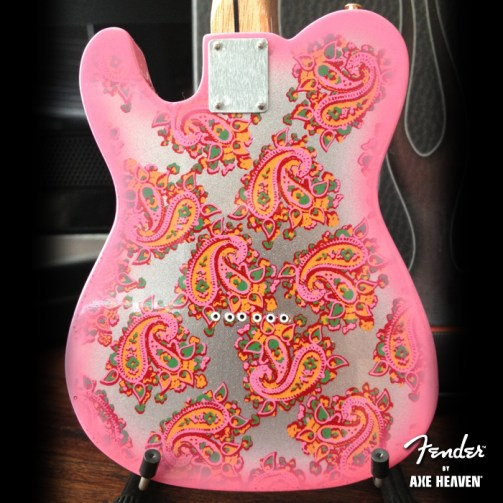 Back of Officially Licensed Miniature Pink Paisley Fender™ Telecaster™ Guitar Replica