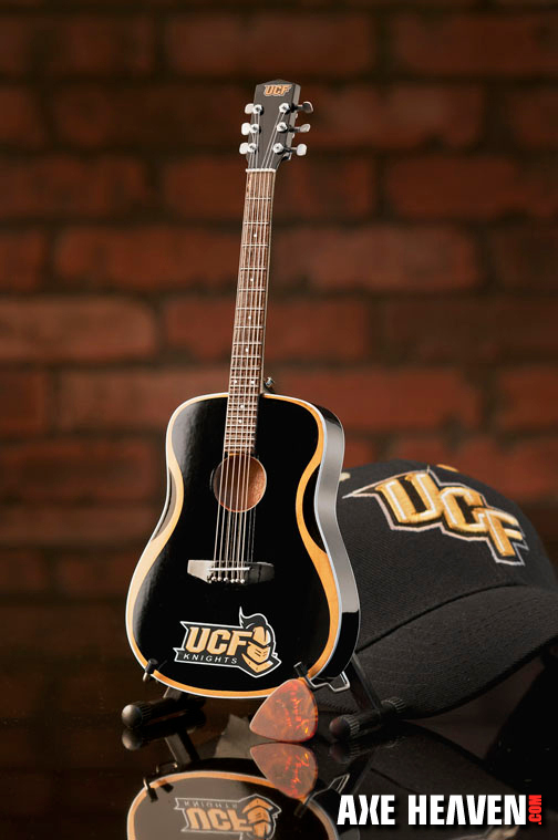 University of Central Florida Knights Miniature Guitar Replica Collectible