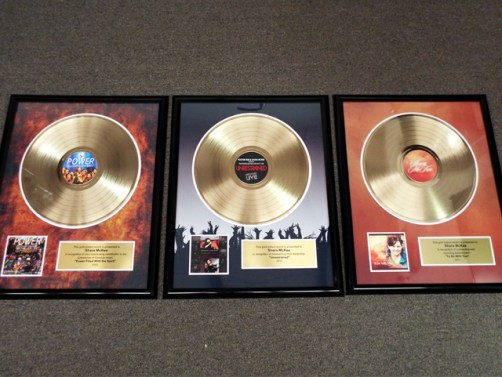 "Gold Record Plaques - 12"" Deluxe Gold Record Awards"