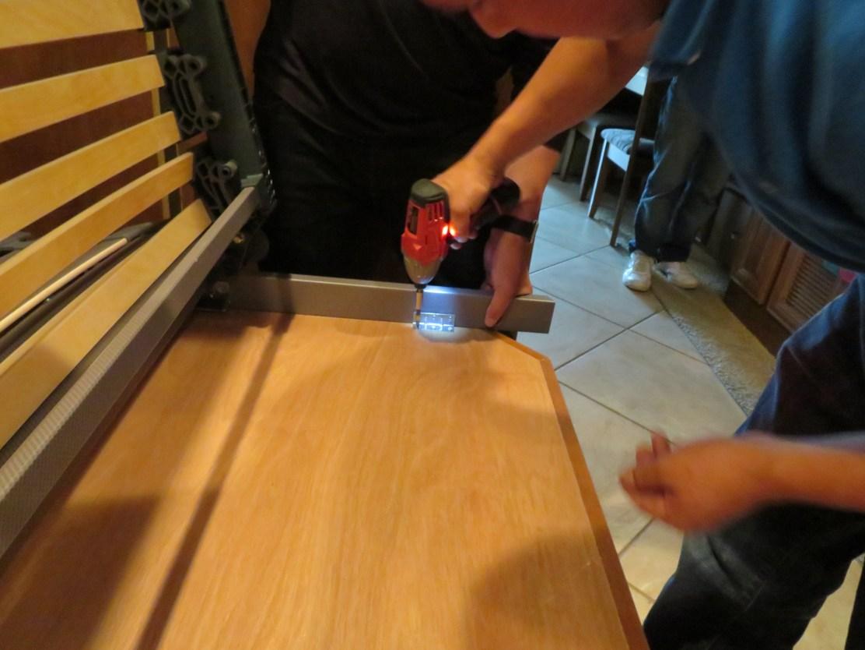 Screwing Adjustable to Paltform at Foot