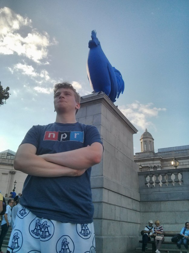 NPR, The Shirt. And a giant purple chicken.