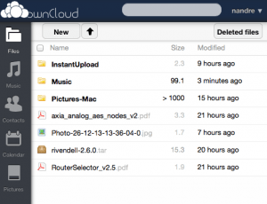 File listing in Web GUI