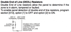 The DSC specified double EOLR configuration.