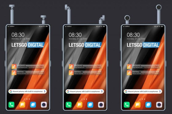 手機內建真無線耳機?小米全面屏手機新專利,享受音樂不用額外攜帶!
