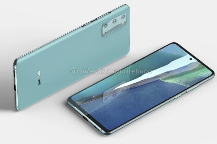 Galaxy S20 Fan Edition 外觀設計洩漏:平面螢幕,規格可能比想像更好!