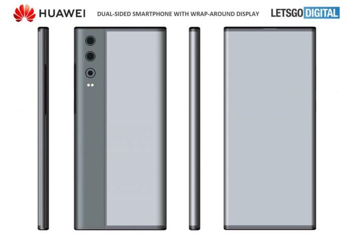 華為也有「環繞屏」手機?專利曝光全新柔性螢幕新設計!