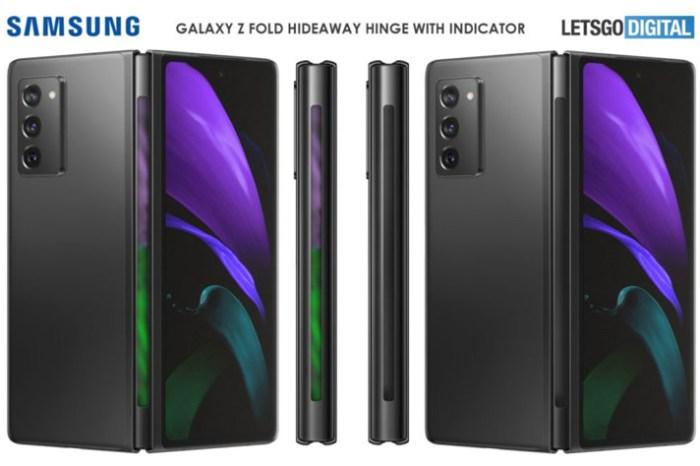 兩個螢幕不夠用?專利顯示三星 Galaxy Z Fold3 可能在鉸鏈處再多加一個燈光指示器!