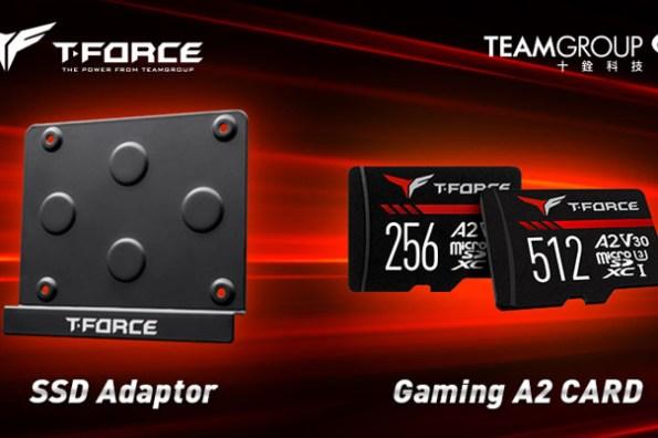 十銓科技 T-FORCE 推出 GAMING A2 記憶卡滿足電競手遊玩家需求,SSD Adaptor 更讓裝機用戶多了創意新選擇!