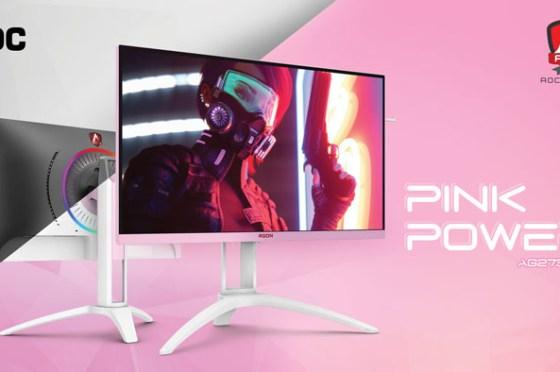 AOC 旗下電競品牌 AGON 推出秋季新品:Pink Power 女性玩家專屬,跑車風格 Porsche Design 聯名專業顯示器!