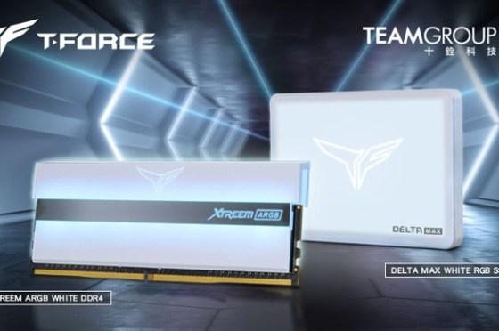 純白就是美!十銓科技推出白色鏡面系列 XTREEM ARGB WHITE電競記憶體及DELTA MAX RGB WHITE固態硬碟!
