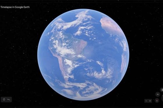 Google 地球(Google Earth)全新「縮時攝影」功能上線,一次總覽地球 37 年的變化!
