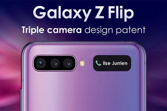 Galaxy Z Flip 2代將會配置三鏡頭相機?三星的新設計專利已曝光…