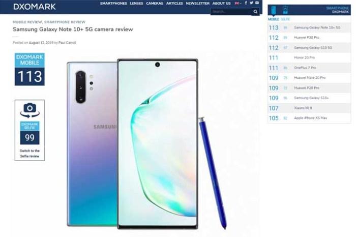 [Mobile] 三星 Galaxy Note 10+ 5G 拿下 DXOMARK 智慧型手機拍照冠軍!