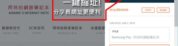 [Chrome] 再長的網址也不怕!用「Bitly | Unleash the power of the link」一鍵縮址!