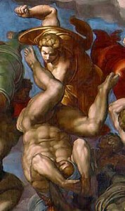 Деталь росписи Сикстинской капеллы