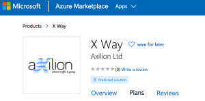 X way Available on Microsoft Azure