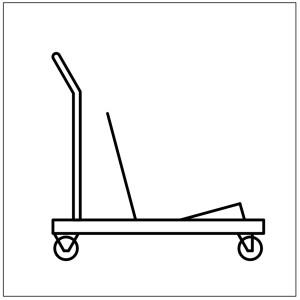 Vagn fyrir stóla