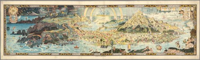 Bernard Sleigh 1872-1954, An Anciente Mappe of Fairyland, Newly Discovered and Set Forth, 1920