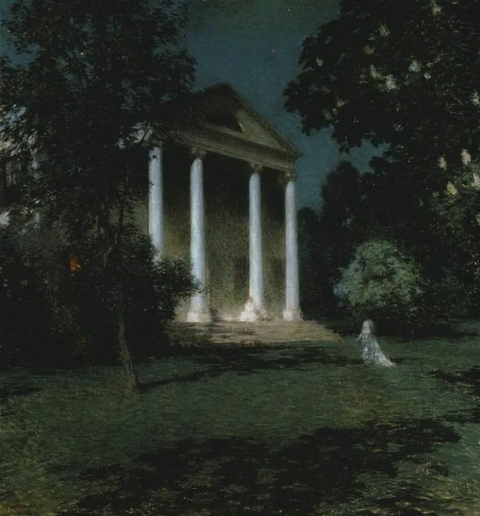 Willard Leroy Metcalf (American, 1858-1925), May Night (1906)