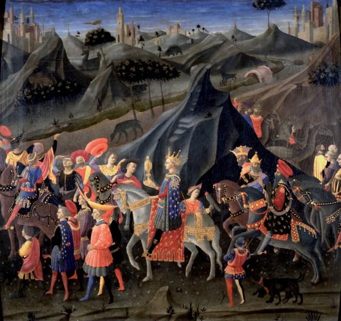Zanobi-Strozzi-Viaggio-del-mago-Baldassarre-a-cavallo-col-suo-seguito