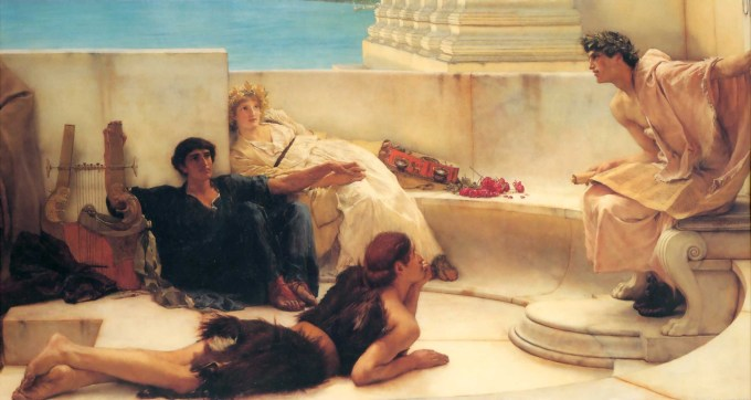 "Lawrence Alma-Tadema, ""A Reading from Homer"" (1885)"