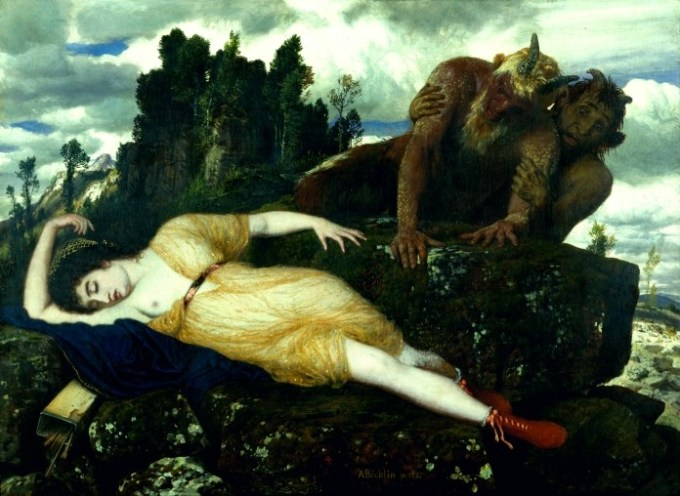 Arnold_Böcklin_-_Sleeping_Diana_Watched_by_Two_Fauns_-_Googl