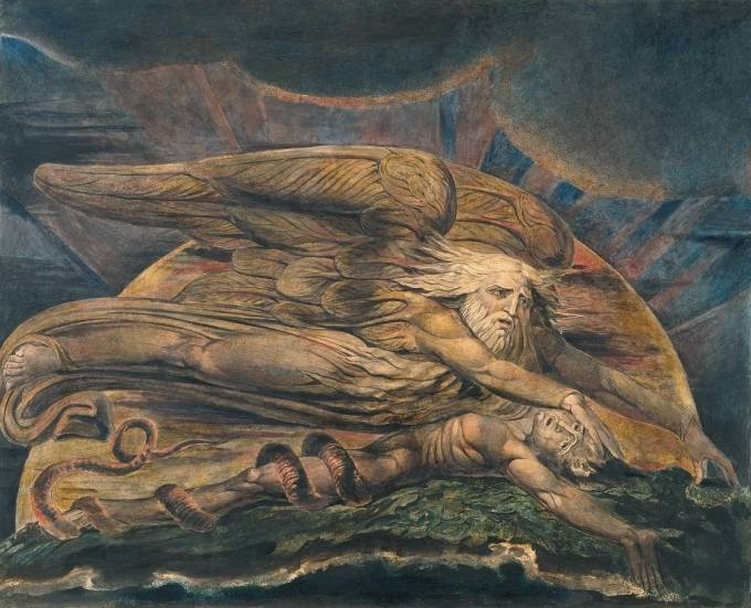 Elohim Creating Adam 1795/circa 1805 by William Blake 1757-1827