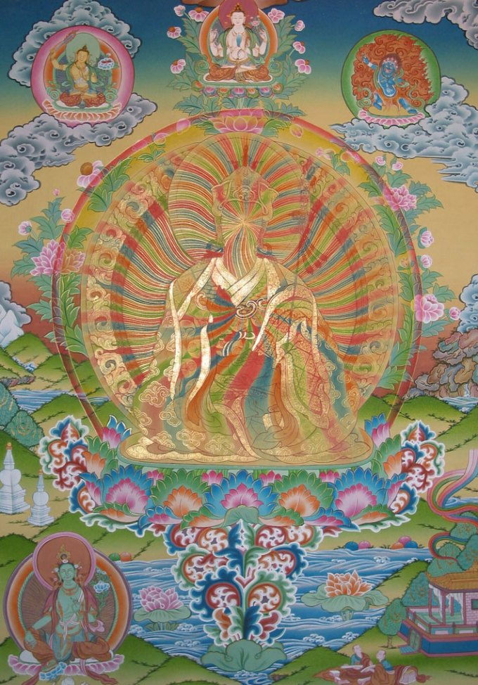 Living rainbow body of great transference