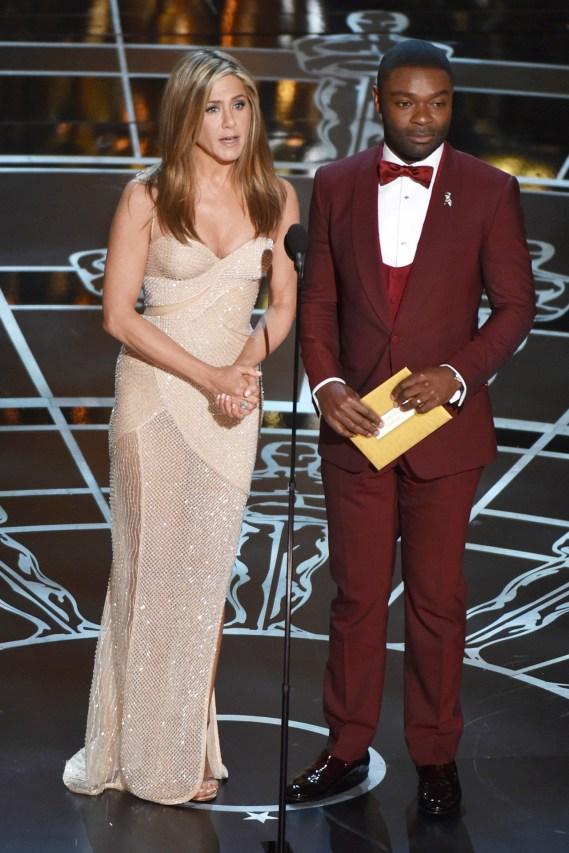 Jennifer Aniston and David Oyelowo