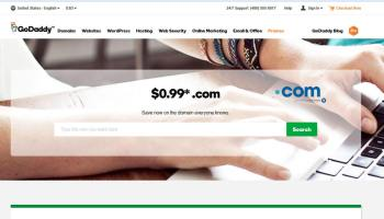 $0.99 .COM Domain! Get going with GoDaddy!