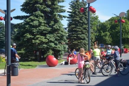 Latvian Cyclists in Johvi
