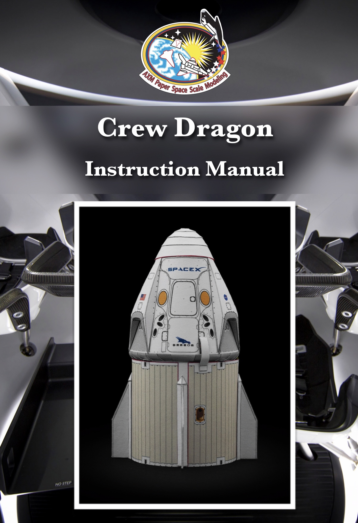 Falcon 9 - AXM Paper Space Scale Models com | Crew Dragon 2 DM1