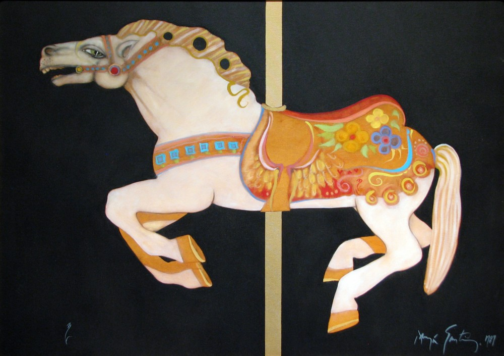 Carousel, 1989, oil on canvas, 29 x 40.5 inches