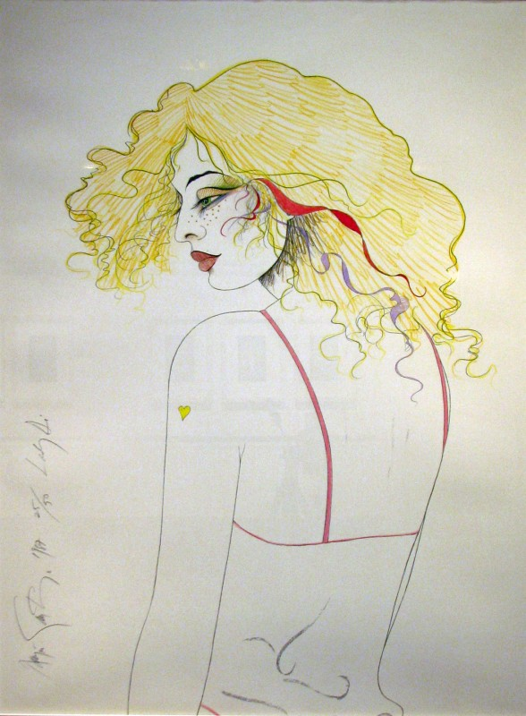 Lady Di (vertical), 1987, serigraph 25/50,