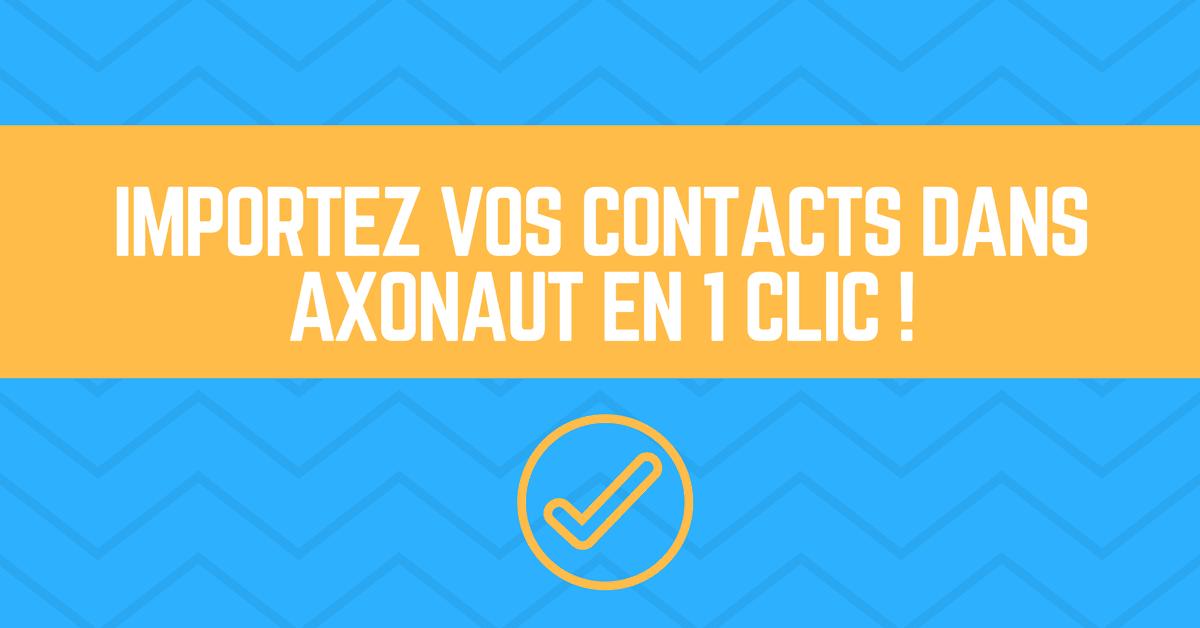 Importez vos contacts dans Axonaut