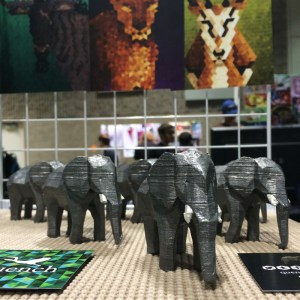Herd of elephant sculptures at Con Bravo