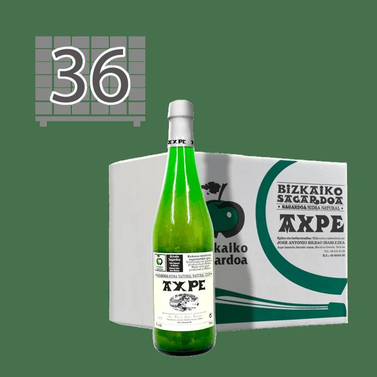 Axpe Sagardotegia, palet 36 cajas de bizkaiko sagardoa
