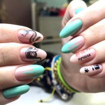Protez tırnak sticker nail art
