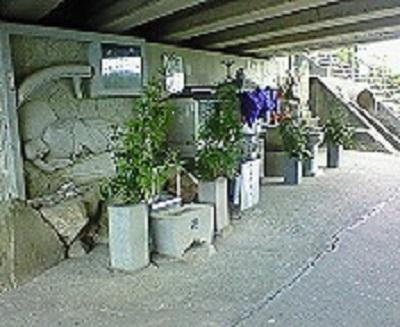聖地・十夜ヶ橋の橋の下