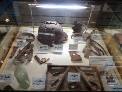 北鎮記念館にて。日露戦争時の遺品等。