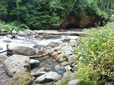 ダートを抜け、川をゆく。