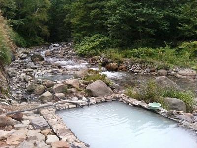 岩間温泉なう。