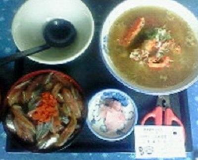 鈴木食堂生サンマ丼+カニ汁
