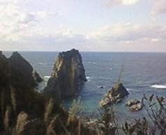 2008/10/04 14:39 島武意海岸。