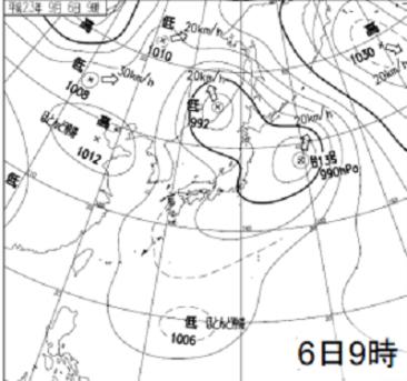 0906地上天気図