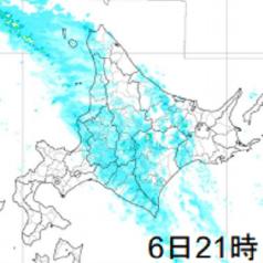 6日21時雨雲レーダー